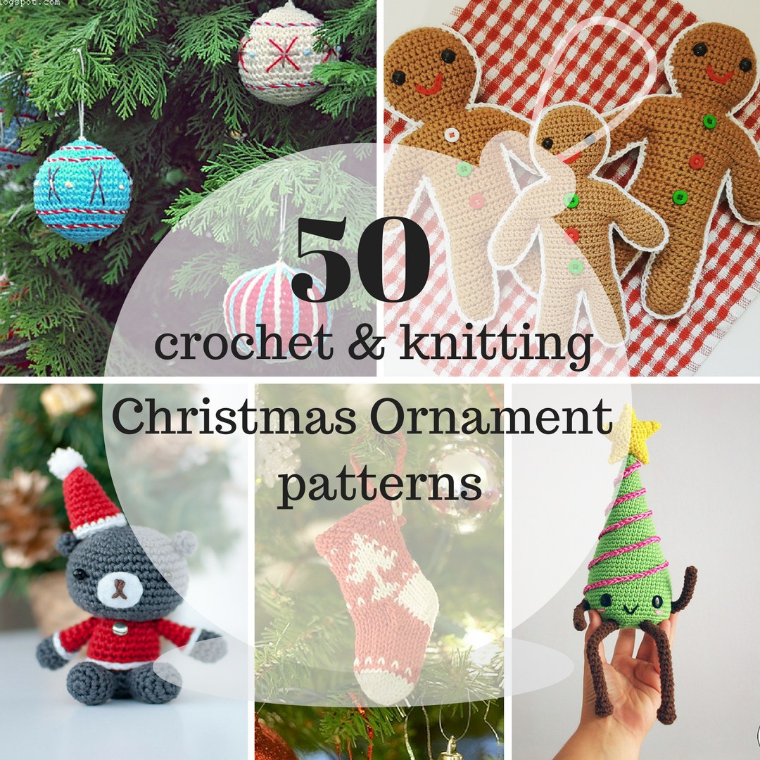 50 Of The Best Crochet Knitted Christmas Ornaments Amiguru Me